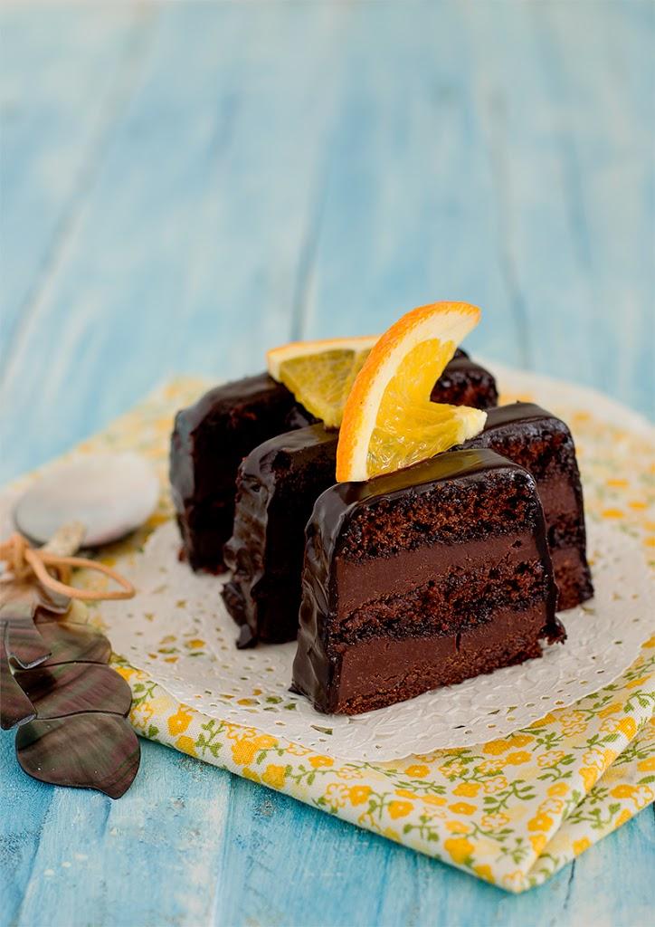 lingote de chocolate y naranja