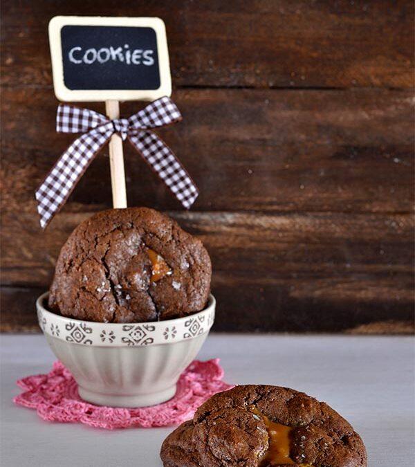 cookies de chocolate rellenas