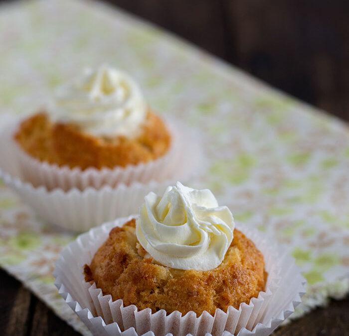 muffins salados con crema de queso y lima